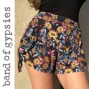 Band of Gypsies Boho Bohemian Floral Print Shorts
